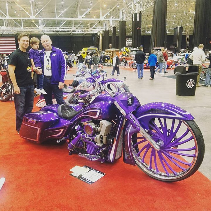 The Flickinger men in front of the new Flickinger Legal Group  motorcycle custom… image