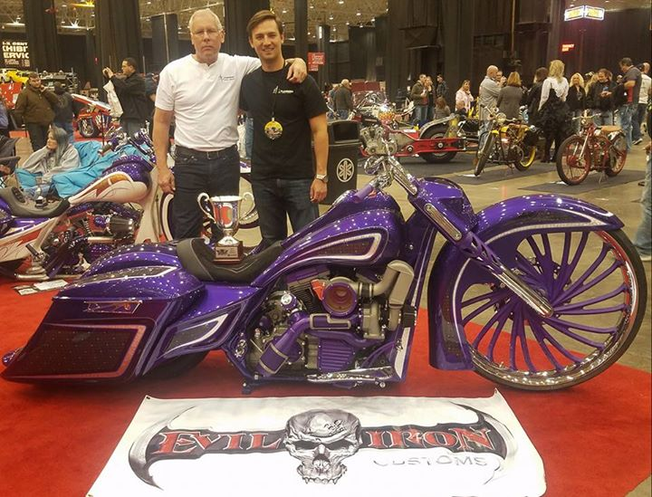 The new FLG bagger made by Evil Iron Customs that was displayed at the Piston Po… image