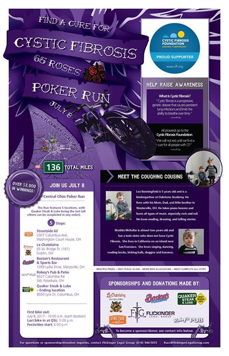 In benefit of Cystic Fibrosis research, we're seeking prize donations for our Po… image