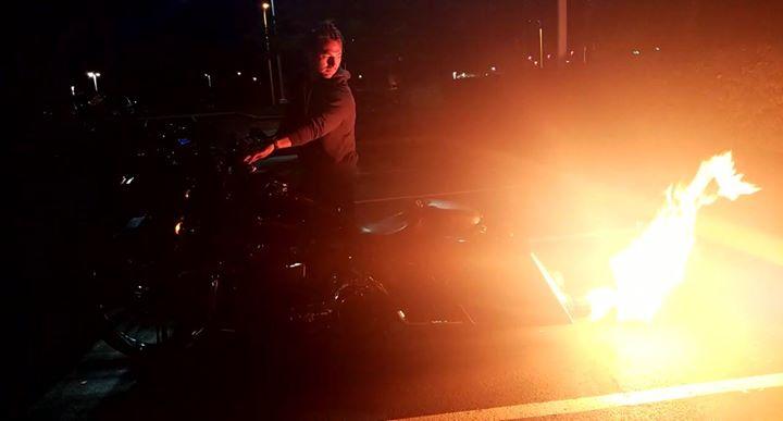 Attorney Justin Flickinger lightin up the Quaker Steak and Lube bike night last … image