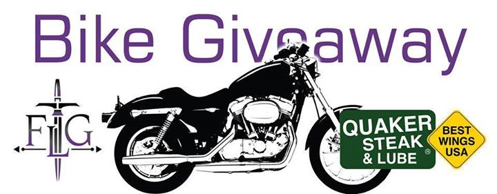 Tomorrow is the Quaker Steak and Lube bike giveaway! Make sure to tell your frie… image