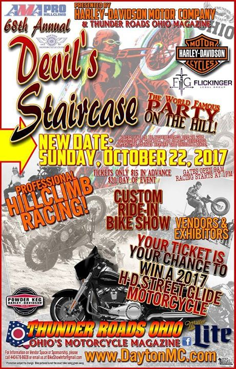 TODAYS THE DAY! Everyone please be safe riding the 68th Annual Devil's Staircase… image