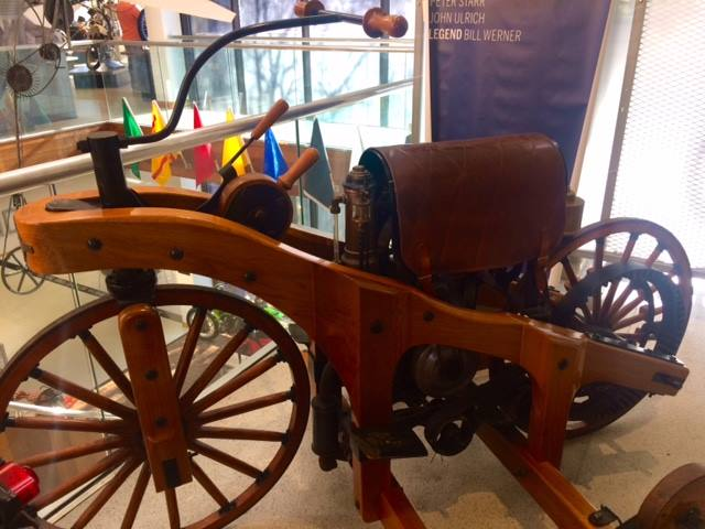 Check this out—can you imagine riding this antique?? This is what the first gas-… image