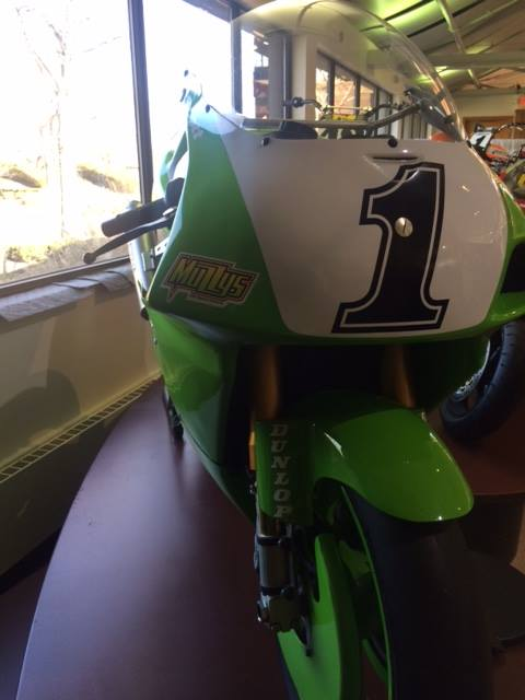 This is pretty cool—a Kawasaki ZX7R that was specially modified for speed. (For … image
