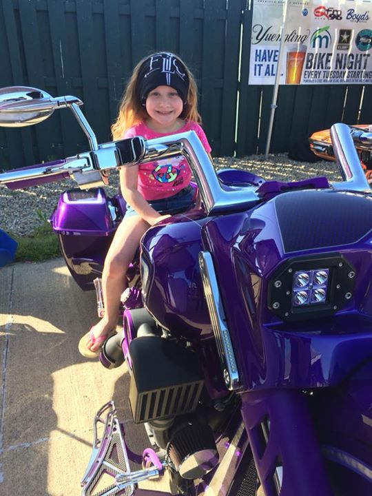 #BikeNight at Benny's Pizza Pub & Patio is already bouncing— just ask Lily on t… image