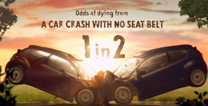 Did you know: the odds of dying in a traffic crash if you're not wearing a seatb… image