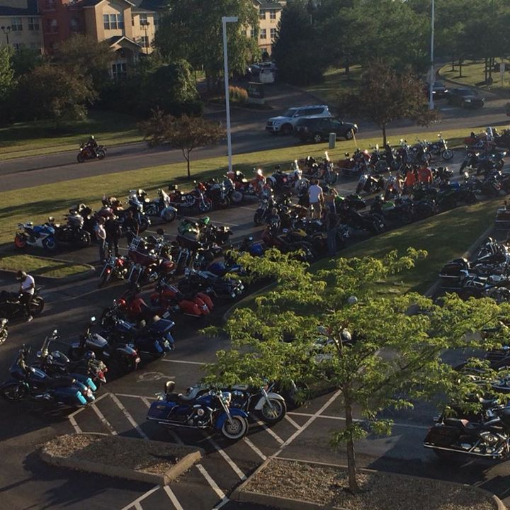 Check out the view from the roof— The parking lot is PACKED on all sides tonight… image