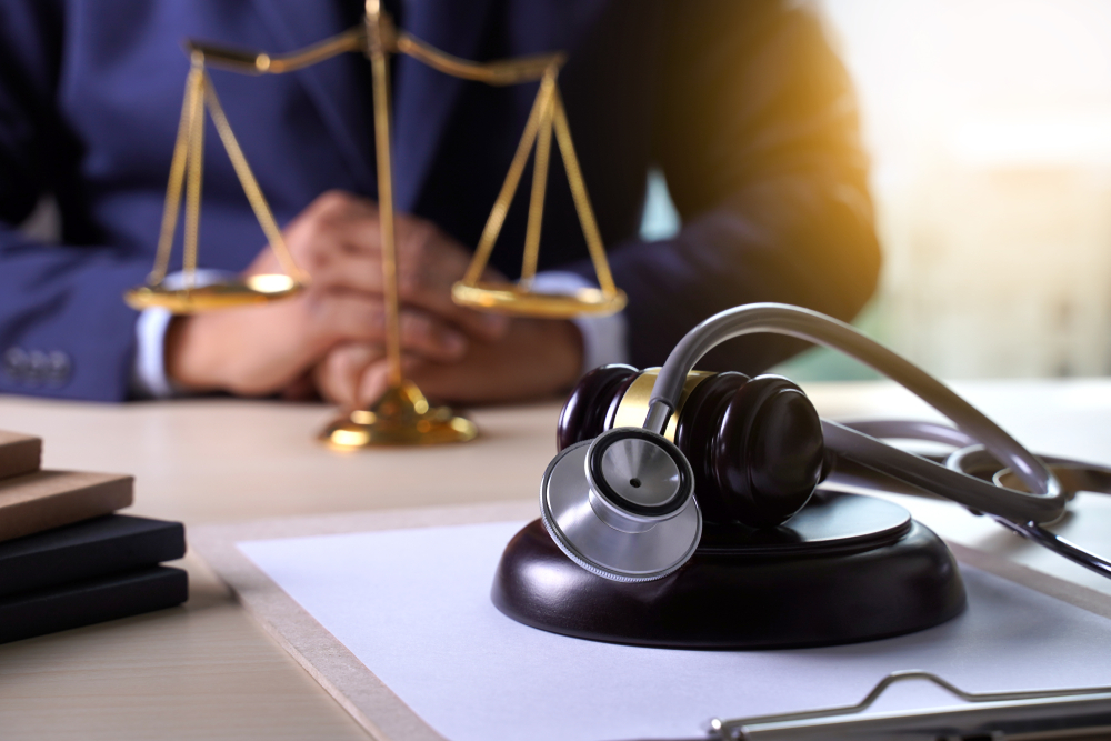 lawyer helping for medical malpractice case